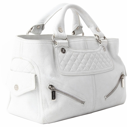 b96839afbd3a Authentic Celine Quilted Distressed Leather Biker Boogie Bag - Ash ..