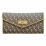 DKNY Canvas Clutch With Chain - Beige