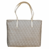 DKNY Logo Canvas Tote - Beige