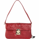 DKNY Croco Leather Handbag - Red
