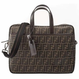 Fendi 7VA322 Zucca Business Bag - Brown