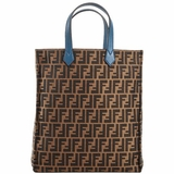 Fendi Fabric Leather Tote Bag - Brown