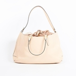 Fendi Leather Drawstring Shoulder Bag - Beige