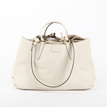 Fendi Leather Drawstring Shoulder Bag - Grey