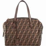 Fendi Zucca Top Handle Bag 8BL118 - Brown
