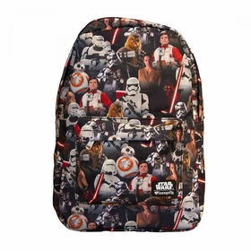 Force Awakens Multi Character Backpack - MultiColor