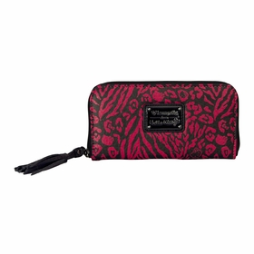 Hello Kitty Animal Print Wallet - Pink/Black