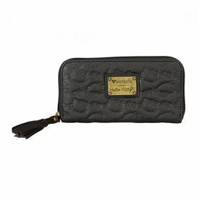 Hello Kitty Embossed Wallet - Black