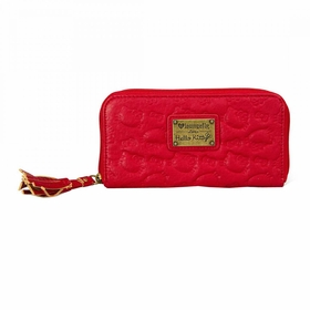 Hello Kitty Embossed Wallet - Red
