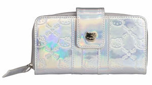 Hello Kitty Embossed Wallet - Silver