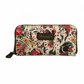 Loungefly Classic Tattoo Printed Pebble Wallet - MultiColor