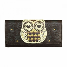 Loungefly Owl With Heart Eyes Wallet - Brown