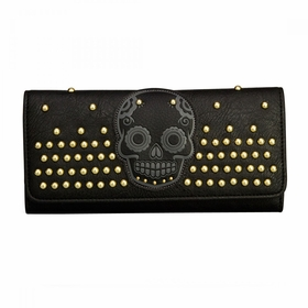 Loungefly Skulls With Studs Wallet - Black