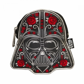 Loungefly Star Wars Darth Vader Balck Floral Coin Bag - Red