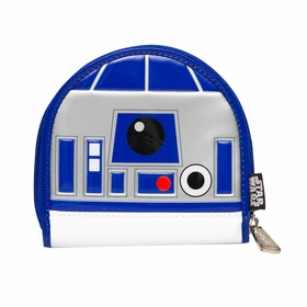 Loungefly Star Wars R2-D2 Blue Patent Coin Bag - Silver
