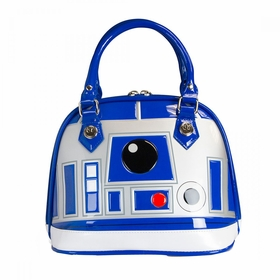 Loungefly Star Wars R2-D2 White Mini Dome Bag - Blue