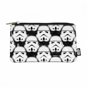 Loungefly Star Wars Stormtrooper All Over Print Black Coin Cosmetic Bag - White
