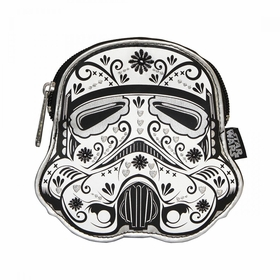Loungefly Star Wars Stormtrooper Black Floral Coin Bag - White