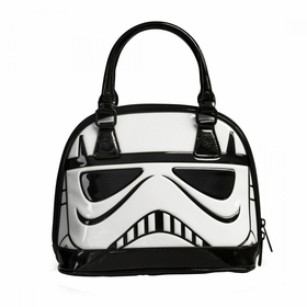 Loungefly Star Wars Stormtrooper Whilte Patent Mini Dome Bag - Black