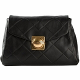 Marc by Marc Jacobs Circle Square Quilted Shoulder Bag - Black