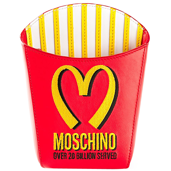 Moschino French Fries Shoulder Bag Red
