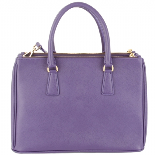 Prada Calf Saffiano Leather Handbag BN2274-PurpleViola