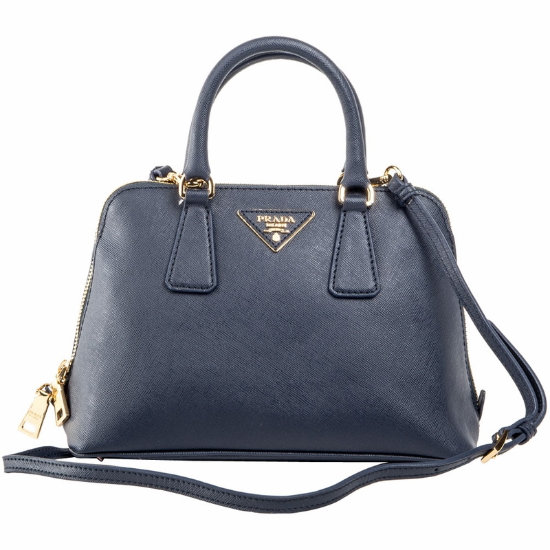 Prada Mini Saffiano Leather Dome Bag BL0838 - Blue