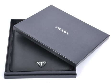 Prada Saffiano iPad 2 and iPad 3 Sleeve Case 2ARD64 - Black