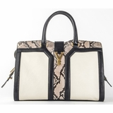 Saint Laurent Cabas Classic Lim Edition Python Leather Handbag - Multi