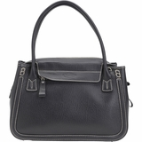 Tods Bauletto Leather Bag - Black