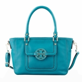 Tory Burch Amanda Mini Satchel Electric Eel - Blue