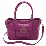 Tory Burch Amanda Mini Satchel Shoulder Bag Fushia - Purple