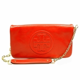 Tory Burch Bombe Reva Logo Clutch Shoulder Tory - Red