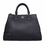 Tory Burch Robinson Triangle Tote Bag - Black
