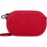 Valentino Logo Leather Crossbody Bag Red HWB00844-AVIT03 0RO