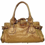 Vintage Chloe Paddington Leather Handbag - Gold