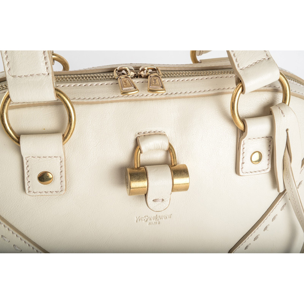 yves saint laurent look - Authentic Saint Laurent \u0026#39;Muse\u0026#39; Medium Leather Dome Satchel - Ivory ...