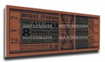1941 MLB All-Star Game Canvas Mega Ticket - Tigers Host - Briggs Stadium