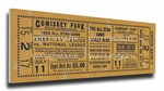 1950 MLB All-Star Game Canvas Mega Ticket - White Sox Host - Comiskey Park