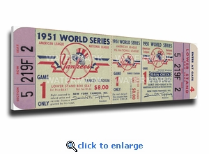 1951 World Series Canvas Mega Ticket - New York Yankees