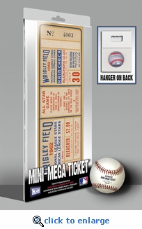 1962b MLB All-Star Game Mini-Mega Ticket - Chicago Cubs - MVP Leon Wagner