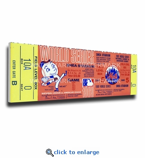 1969 World Series Canvas Mega Ticket - New York Mets