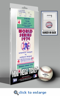 1974 World Series Mini-Mega Ticket - Oakland Athletics