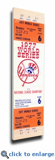 1977 World Series Canvas Mega Ticket - New York Yankees