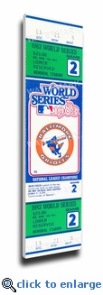 1983 World Series Canvas Mega Ticket - Baltimore Orioles