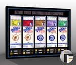 1984 World Series Tickets to History Canvas Print - Detroit Tigers