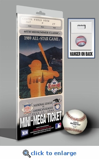 1989 MLB All-Star Game Mini-Mega Ticket, Angels Host - MVP Bo Jackson, Royals