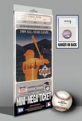 1989 MLB All-Star Game Mini-Mega Ticket - Los Angeles Angels - MVP Bo Jackson