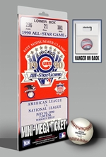 1990 MLB All-Star Game Mini-Mega Ticket - Chicago Cubs - MVP Julio Franco