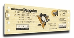 1991 NHL Stanley Cup Finals Canvas Mega Ticket - Pittsburgh Penguins